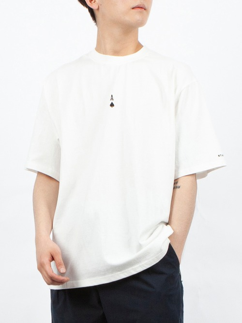 ACE EMBROIDERY T-SHIRT WHITE